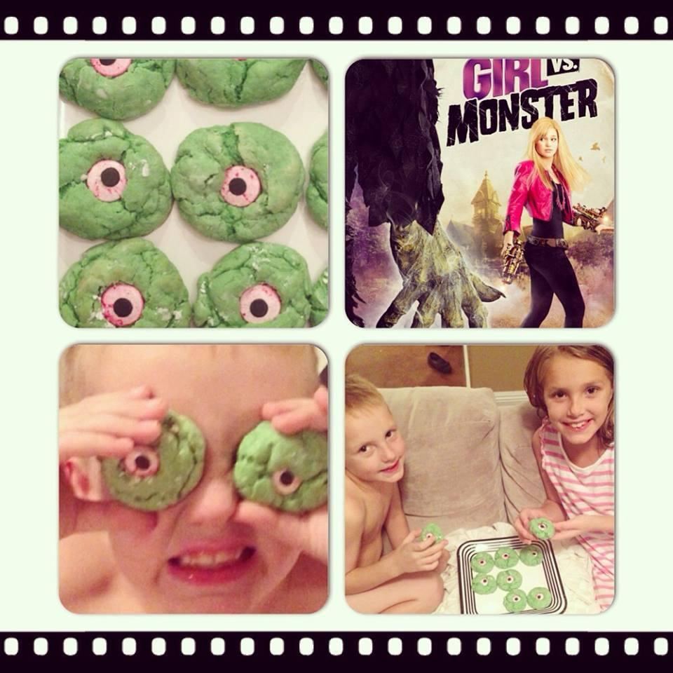 10 halloween treats and movies for kids girl vs. monster monster eye cookies