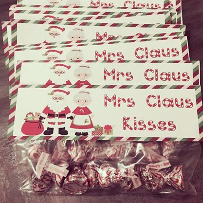 Mrs. Claus Kisses for The Class