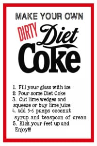 Dirty Diet CokewithCream