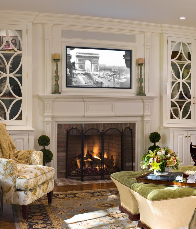 Putting A Tv Above Your Mantel Summer Adams