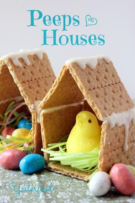 PEEPS houses marshmallow chick easter