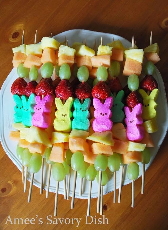 peeps kabobs fruit kabobs easter kid holiday treat
