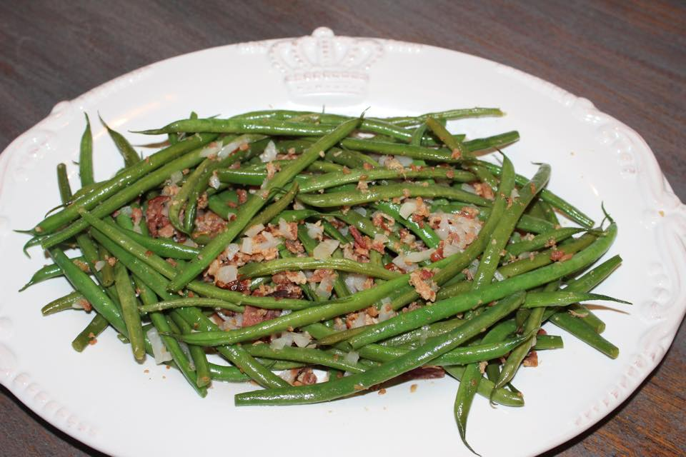 sweet and savory green bean dish gathering of friends