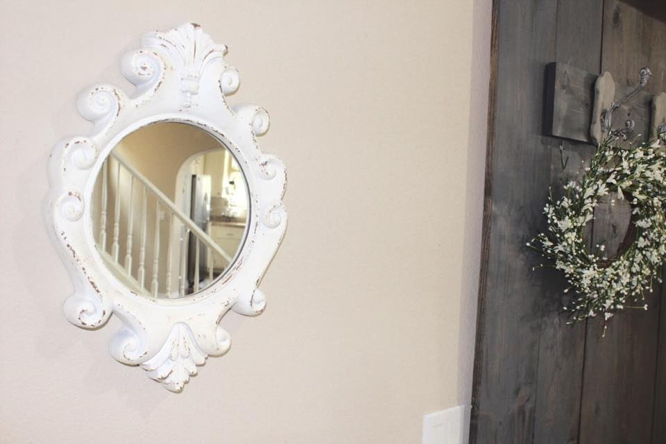 mirror entry front door spring entry blogger home tour rustic farmhouse diy hall tree