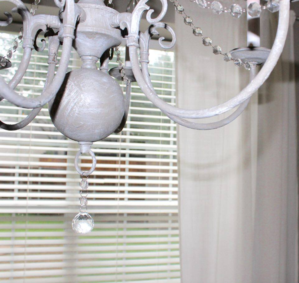 crystal chandelier makeover chalk paint vintage dear lillie restoration hardware diy