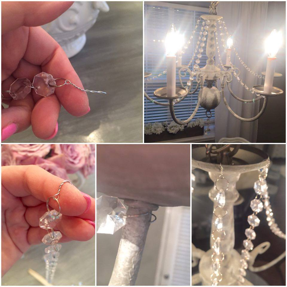 diy vintage chandelier makeover chalk paint restoration hardware dear lillie inspired chandelier