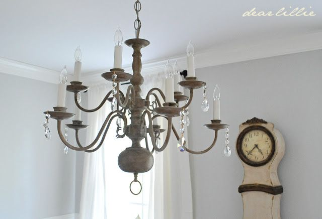 dear lillie chandelier makeover chalk paint diy