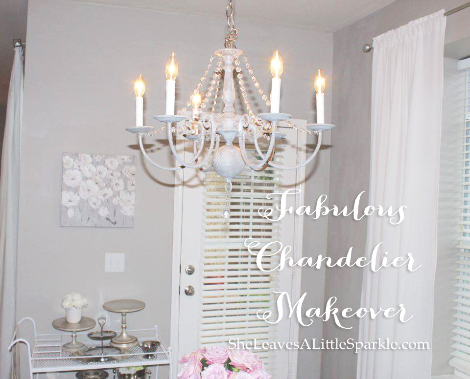 Fabulous Chandelier Makeover Summer Adams