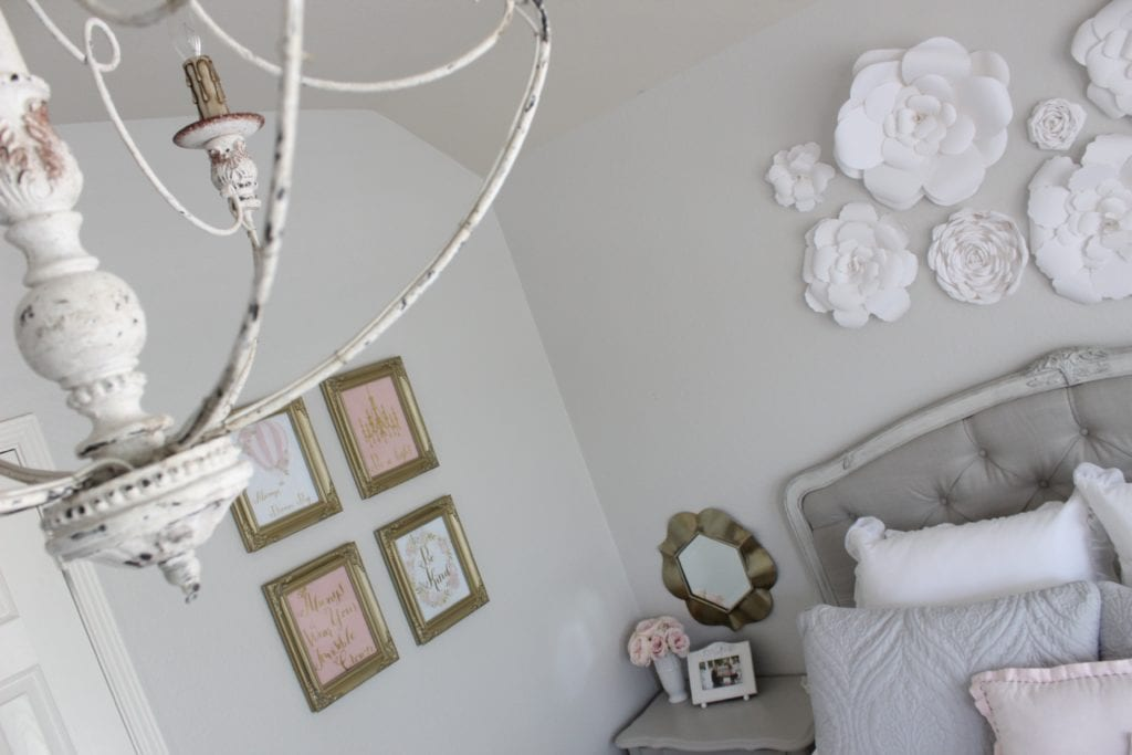 girls tween bedroom makeover vintage shabby chic restoration hardware