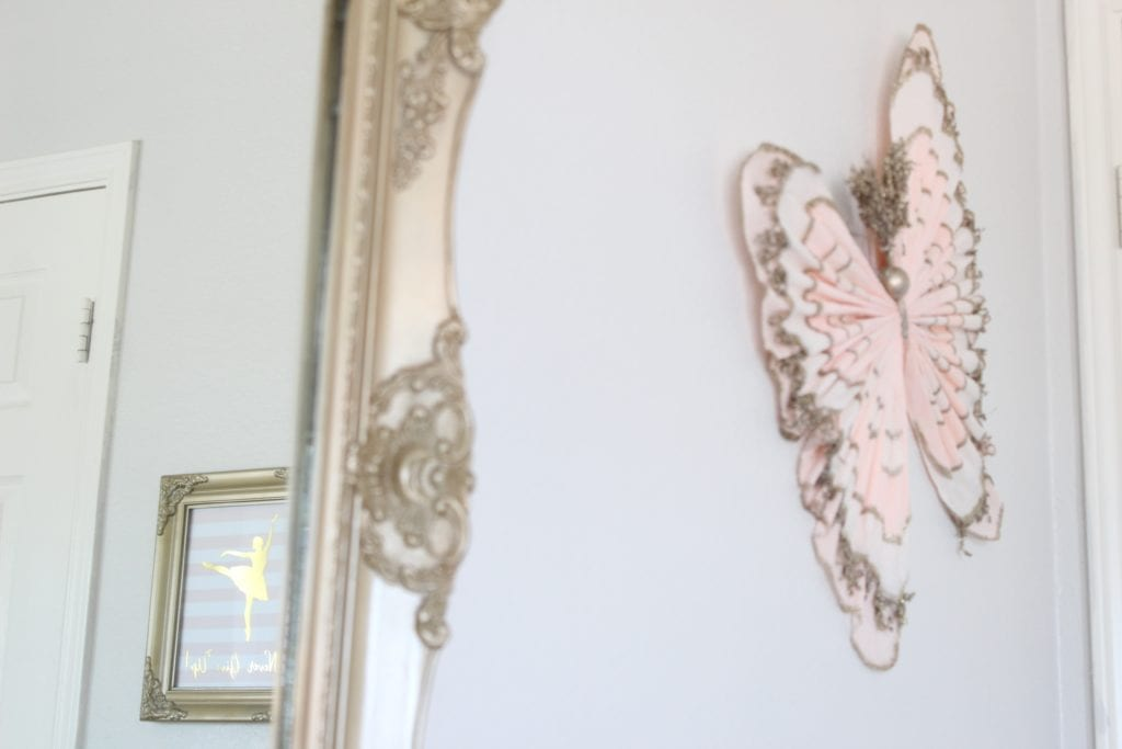 girls tween bedroom makeover pottery barn kids crepe paper butterfly blush