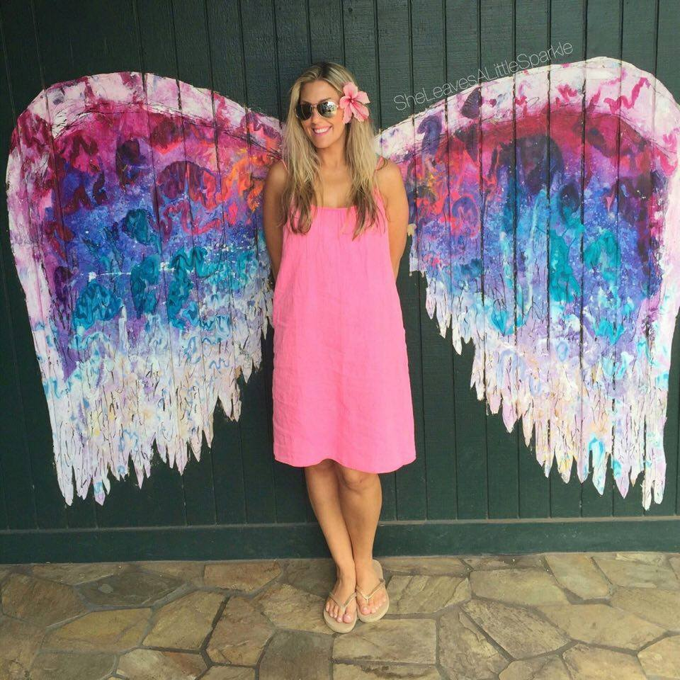The famous wings are a hot picture spot in Haleiwa, the cutest surf town, and one of my favorite spots.