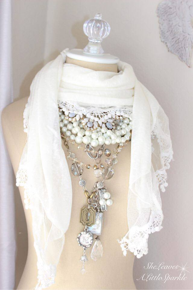 adding glam boudoir blog hop bedroom home decor she leaves a little sparkle lace shabby chic ruffle scarf