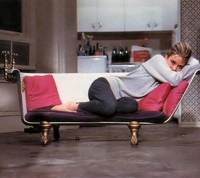 Old Films Inspiring Interior Design Breakfast at tiffany's audrey hepburn bathtub sofa