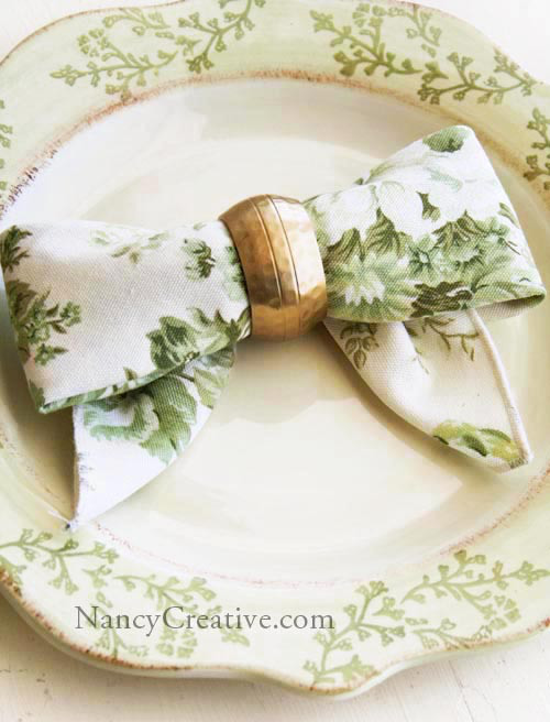 bow napkins green floral chinoiserie ralph lauren