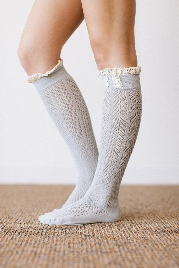 fall accessories you'll love crochet trim tall boot socks