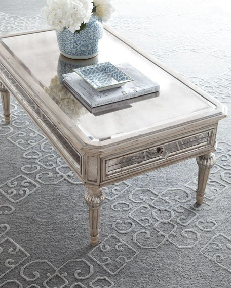 most popular coffee tables dresden mirrored coffee table traditional glam neiman marcus horchow