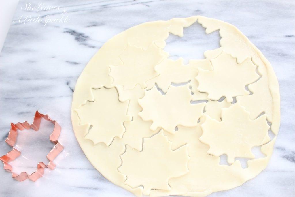 pie crust sugar leaves fall dessert treat