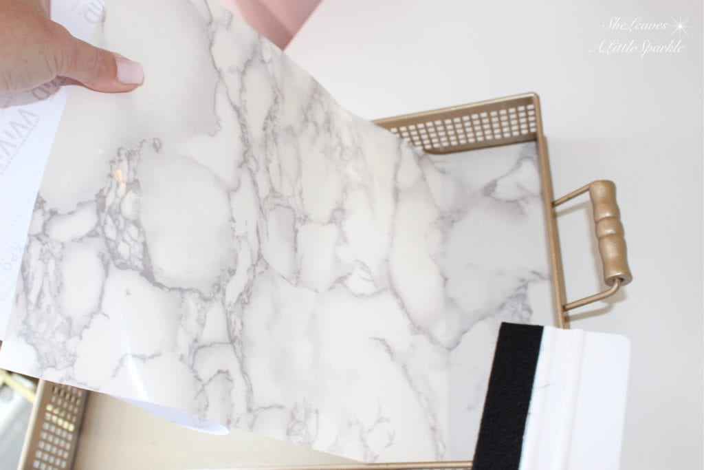 faux marble tray diy