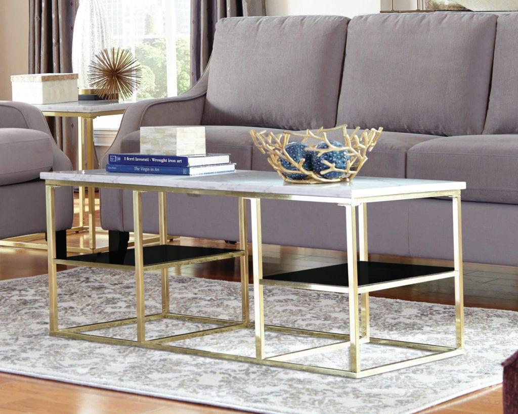 most popular coffee tables isabelle donny osmond marble brass gold coffee table