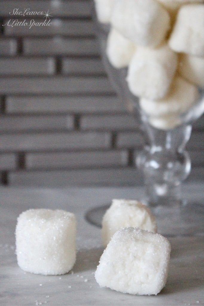 how to make sparkly marshmallows glitter snow white marshmallows hot cocoa bar