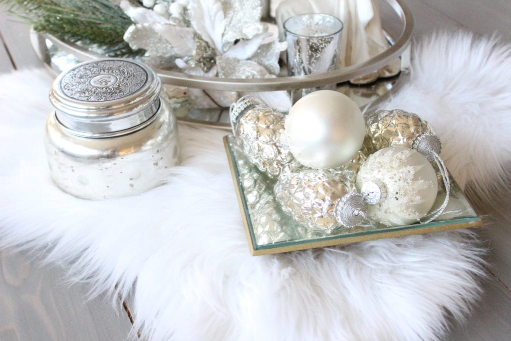 Styling a Christmas coffee table