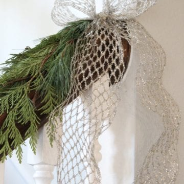 How To Hang Garland On Your Banister