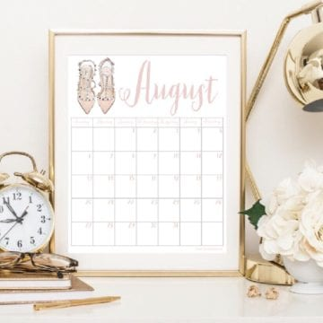 2017 Calendars – July through December