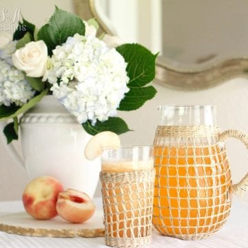Adding A Little Fall Decor To Our Temporary Townhome & A Peach Drink Recipe