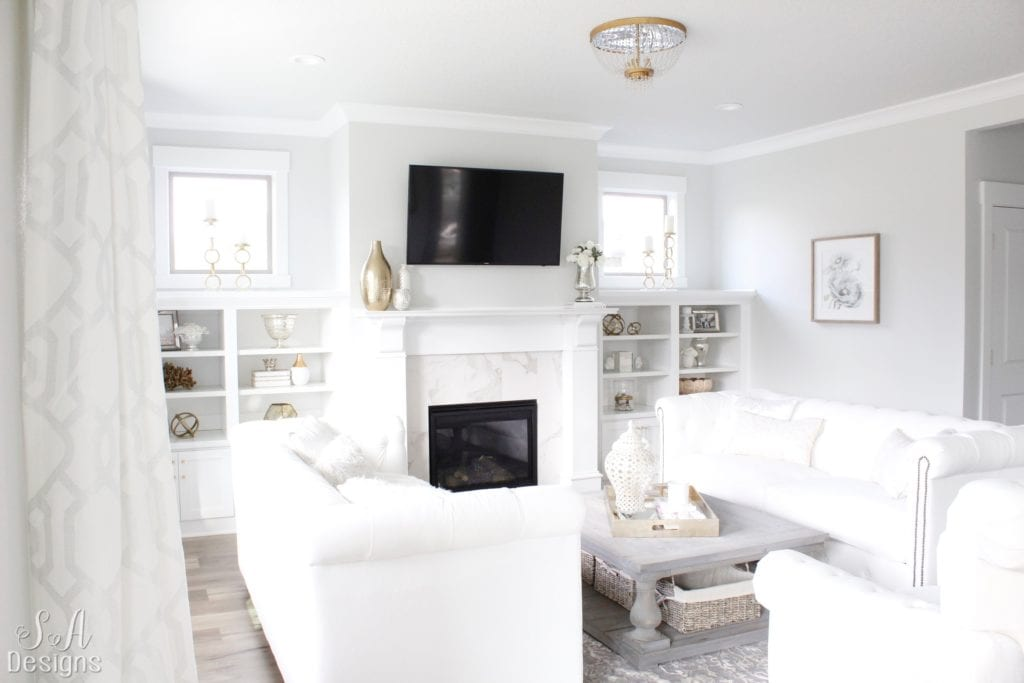 Welcome To Our Bright White Living Room Summer Adams