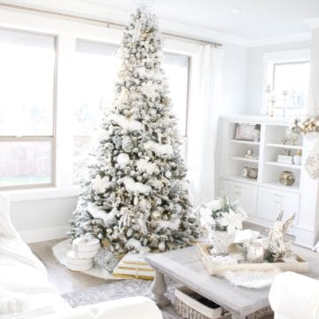 Winter Wonderland Flocked Christmas Tree & Mantel