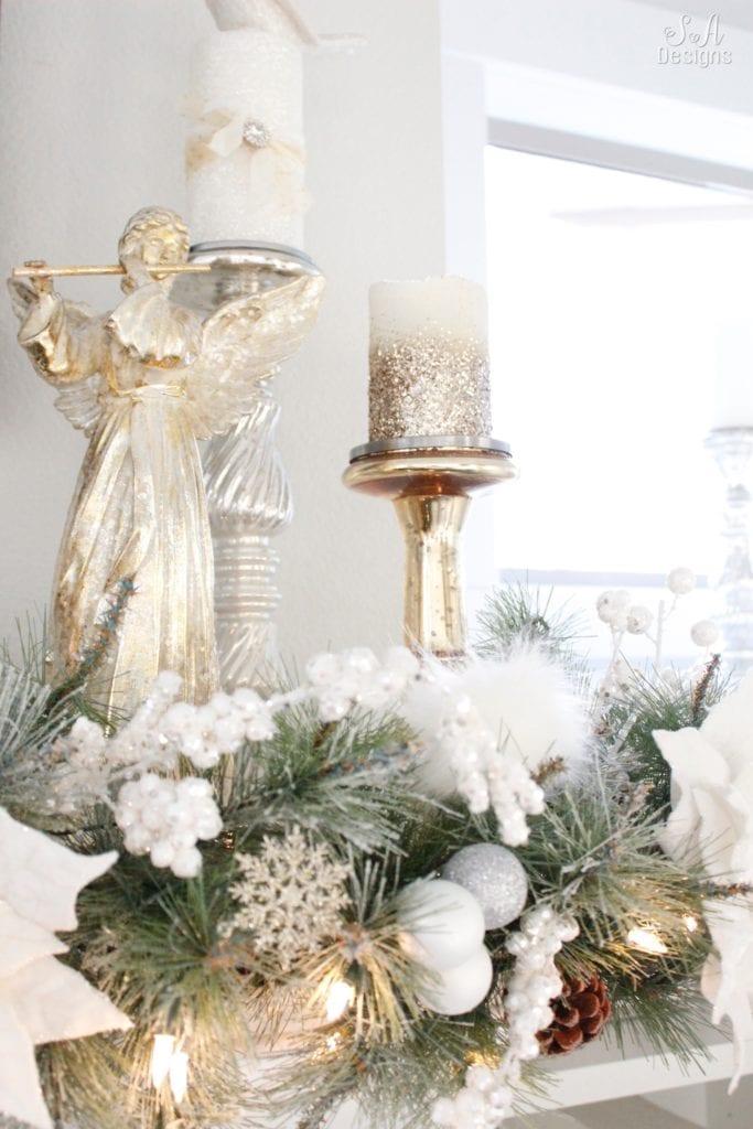 Winter Wonderland Flocked Christmas Tree Amp Mantel Summer