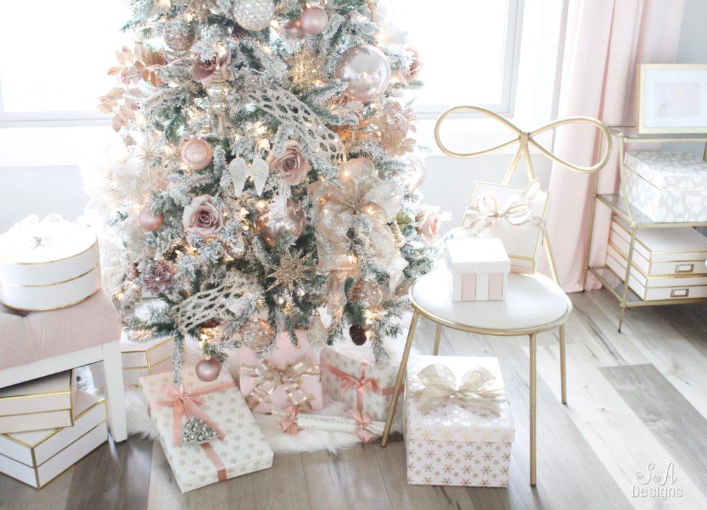 My Blush Pink Flocked Christmas Tree 15 Summer Adams