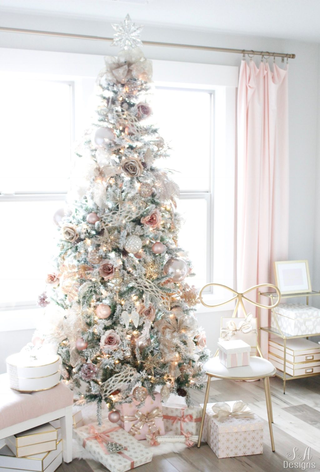 Decorated Blush Pink Decorated Pink Christmas Tree Novocom Top
