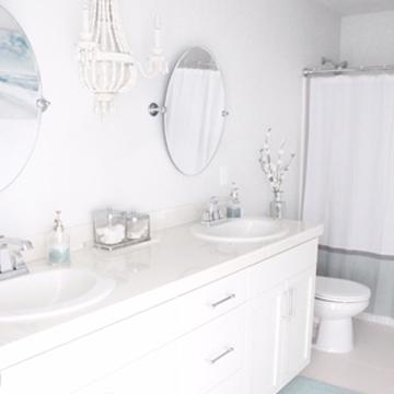 Coastal Chic Kids Bathroom Reveal
