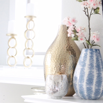 Blush & Blue Spring Mantel