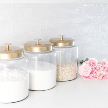 DIY Gold & Glass Canisters For The Kitchen