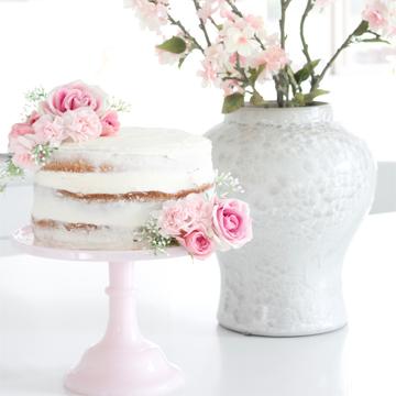 Pink Lemonade Chiffon Naked Cake