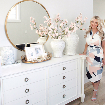 Spring Home Tour With Accents Of Blush & Blue