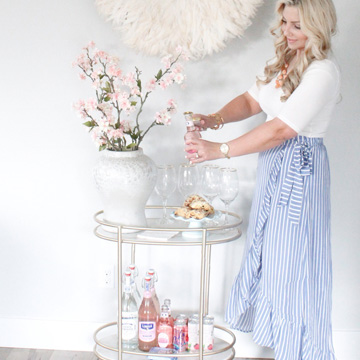 Spring Bar Cart & Spring Ruffled Skirt