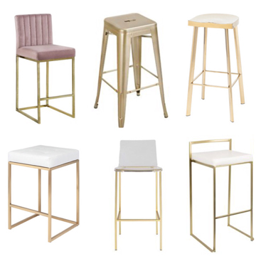 Brass Bar Stool Round Up