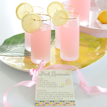 Homemade Pink Lemonade Recipe + Printable Recipe Card