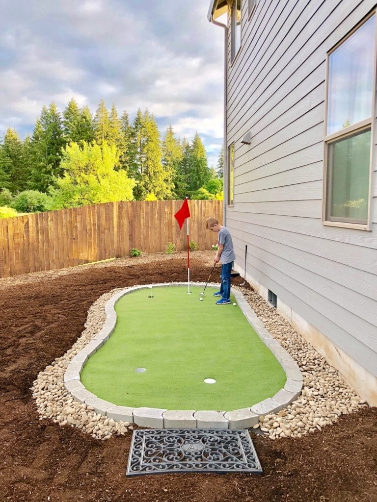 diy putting green, pacific northwest living gardening landscape