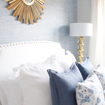 Coastal Glam Guest Bedroom Reveal