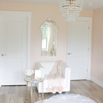 Updated Glam Office Reveal With Blush Pink Walls