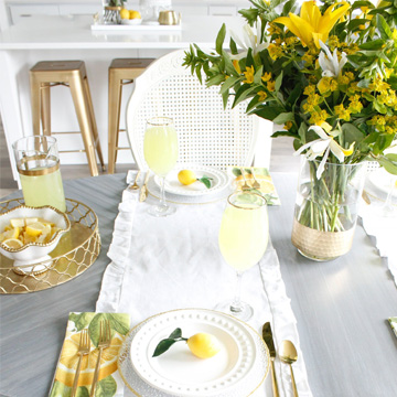 Lovely Little Lemon Tablescape