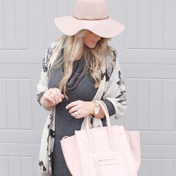blush wool floppy hat, fall fashion, blogger fall fashion