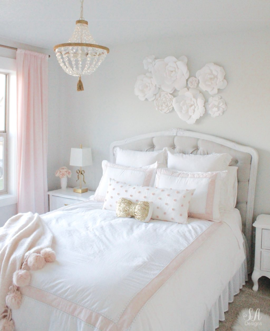 Super Tween Girls Bedroom In Blush Gold Grey Summer Adams Beutiful Home Inspiration Truamahrainfo