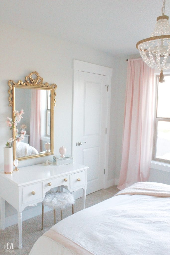 Tween Girl S Bedroom In Blush Gold Amp Grey Summer Adams