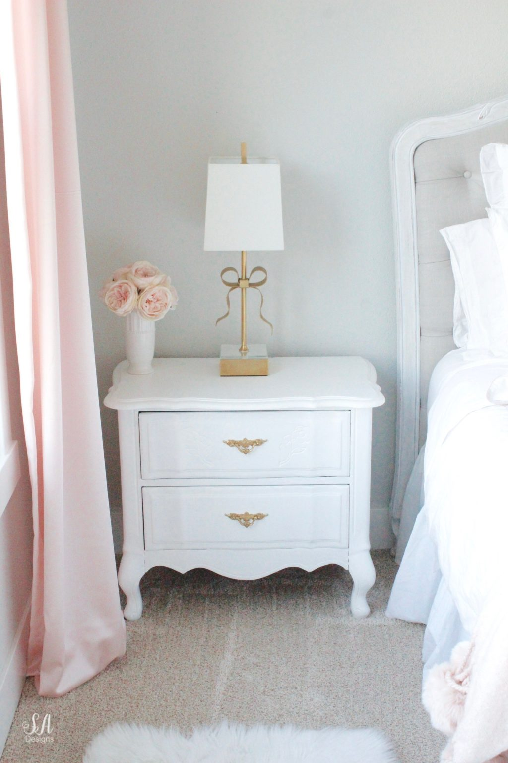 Blush Bedroom, Blush And Gold, Blush Gold Grey, Modern Vintage Style, Modern
