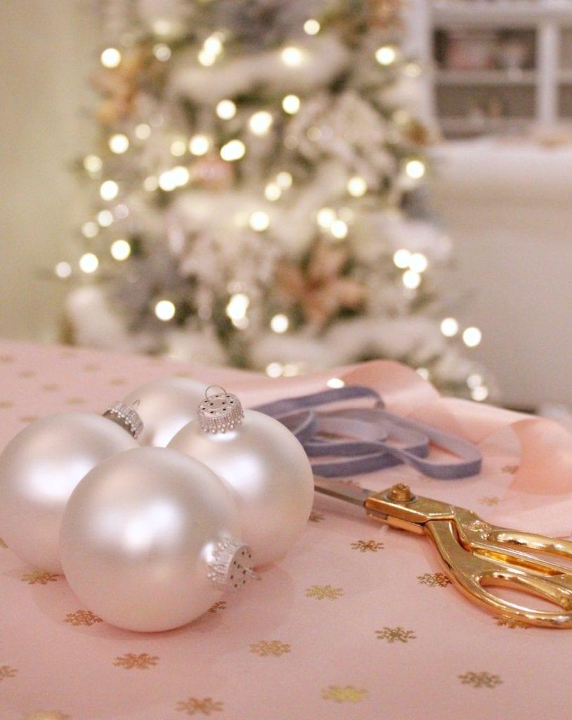 pearlized white ornament